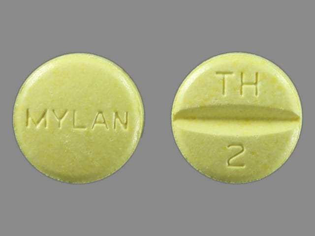 Image 1 - Imprint MYLAN TH 2 - hydrochlorothiazide/triamterene 50 mg / 75 mg