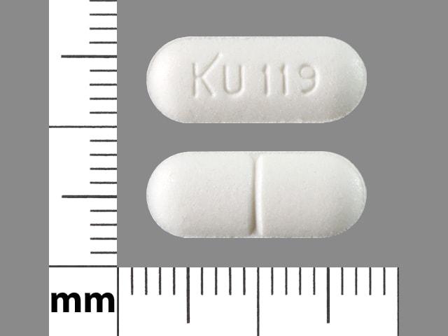 Imprint KU 119 - isosorbide mononitrate 60 mg