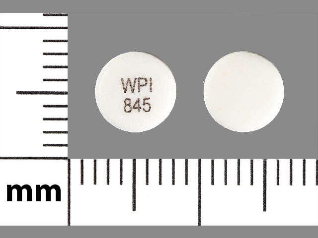 Imprint WPI 845 - glipizide 10 mg