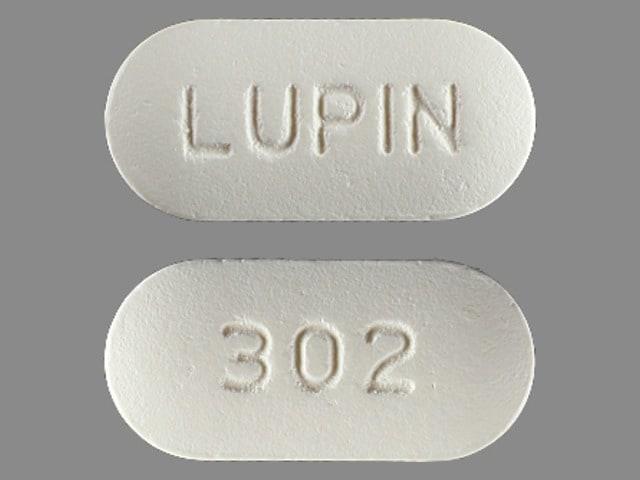 Imprint 302 LUPIN - cefuroxime 250 mg