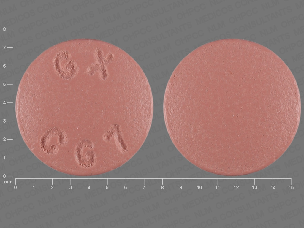 Imprint GX CG7 - atovaquone/proguanil 62.5 mg / 25 mg