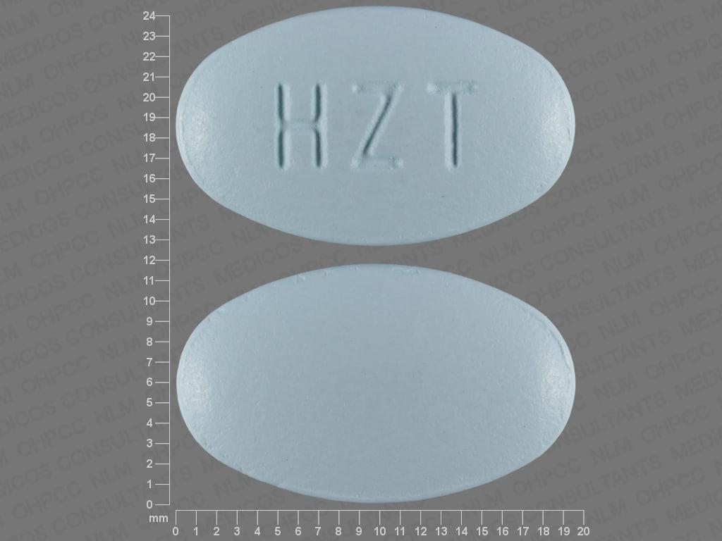Imprint HZT - Duexis famotidine 26.6 mg / ibuprofen 800 mg