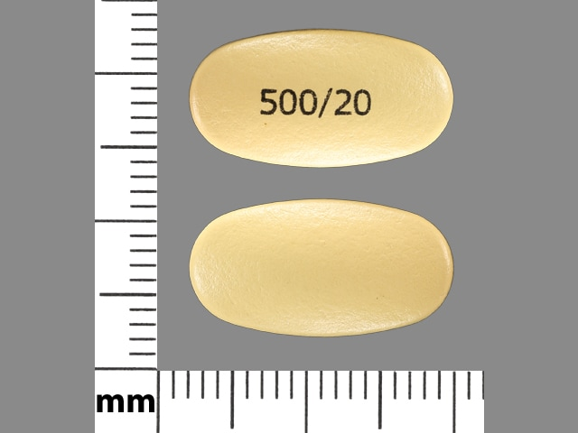 Imprint 500/20 - Vimovo esomeprazole 20 mg / naproxen 500 mg